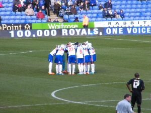 The Reading squad before the game